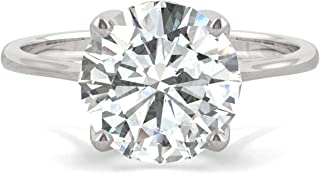 White Gold Forever Brilliant 9mm Round Solitaire Engagement Ring, 2.70ct DEW by Charles & Colvard