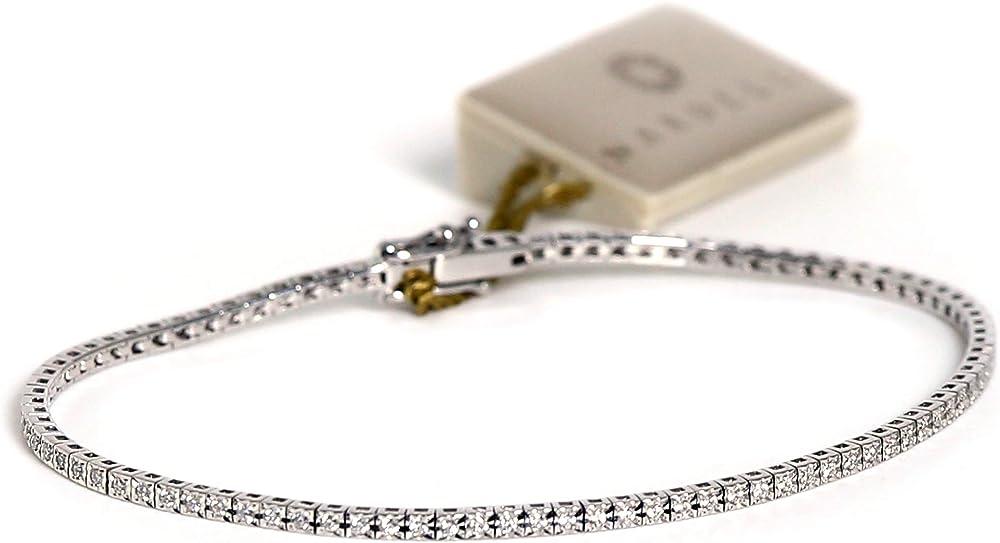 Nardelli bracciale tennis oro bianco e diamanti naturali con certificato 0,50kt CL164VS