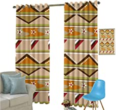 YSING Living Room Curtains,All Over Pattern Vector Files Graphics Geometry Decorative Pattern Geometric Pattern Art Elements Pop,Room Darkening Wide Curtains,W72 x L108 Inch