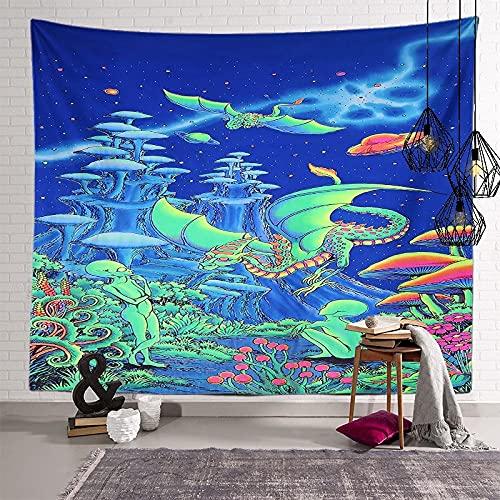KHKJ Fungo Mandala Arazzo Testiera Wall Art Copriletto Dormitorio Arazzo per Soggiorno Camera da...