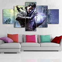IGHFVJFG Modular Painting Wall Artwork 5 Pieces Video Games Dragon Age Picture Hd Prints Home Poster Canvas Living Room Decoration Framed-Size1-Frameless