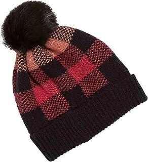 Vera Bradley Cozy Hat in Garnet Buffalo Check