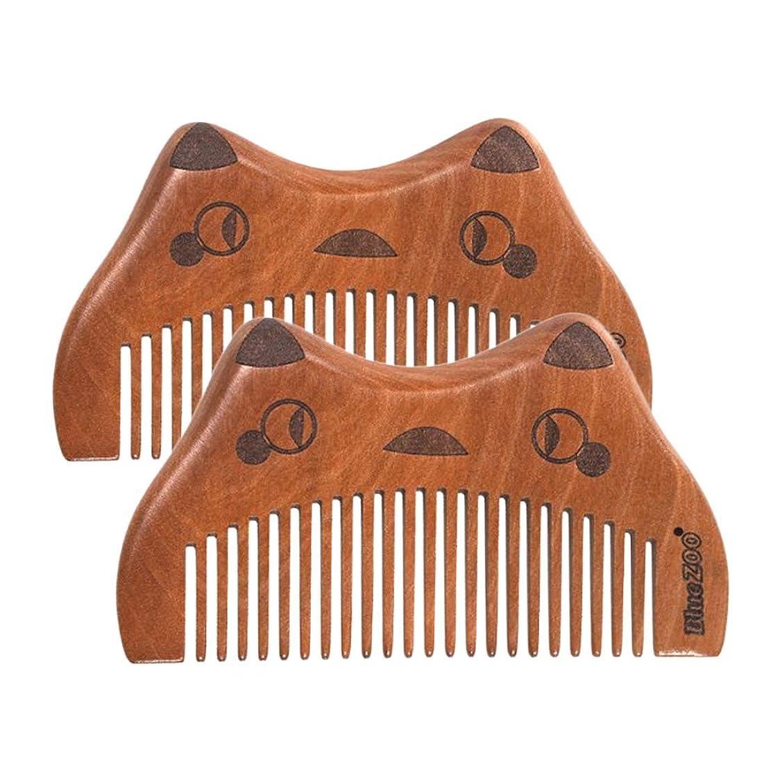 アライアンスライセンスうがいsharprepublic ヘアコーム 木製櫛 ヘアケア 男女兼用 くし コーム 頭皮マッサージ 全2種選択でき - 細かい歯