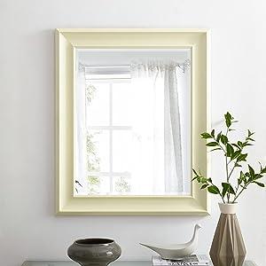 Naomi Home Framed Wall Mirror Cream