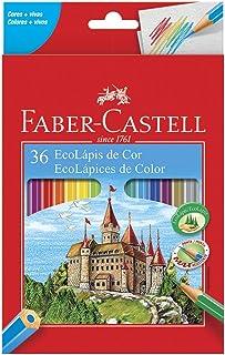 Lápis de Cor Sextavado, Faber-Castell, EcoLápis, 111236, 36 Cores