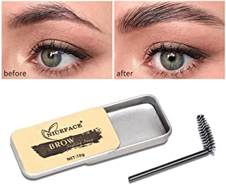 JunLai888 Eyebrow Soap Kit,Brows Styling Soap,Long Lasting Waterproof Smudge Proof Eyebrow Styling Pomade for Natural Brows, 3D Feathery Brows Makeup Balm (White)