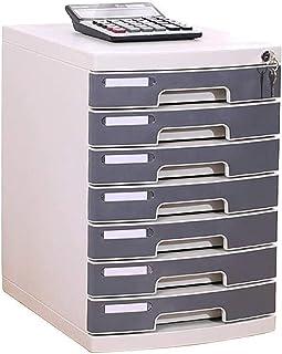 XQMY Bureau de tiroir cosmétique en Plastique à 7 Couches, Organisateur d'unité de Rangement trieur de tiroir verrouillabl...