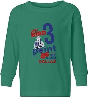 BTA Apparel Boston Bird Three Points 1986 Vintage Little Kids Girls Boys Toddler Long Sleeve T-Shirt