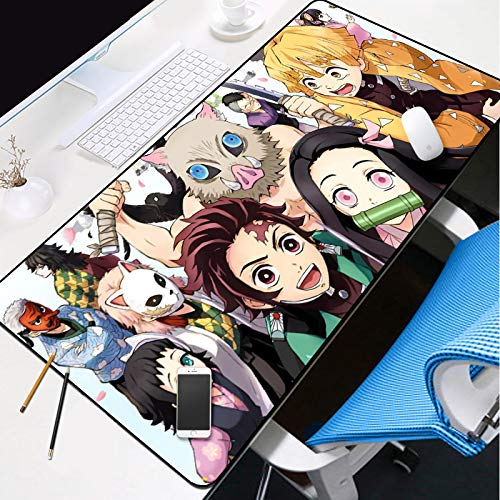 KOEWSN Large Gaming Mouse Mat Mouse Pad XL 700X300mm Anime Boy Girl Pattern Waterproof Mousepad Office Desk Mat With High-Precision Surface, Non-Slip Rubber Base, Firm Stitched Edges