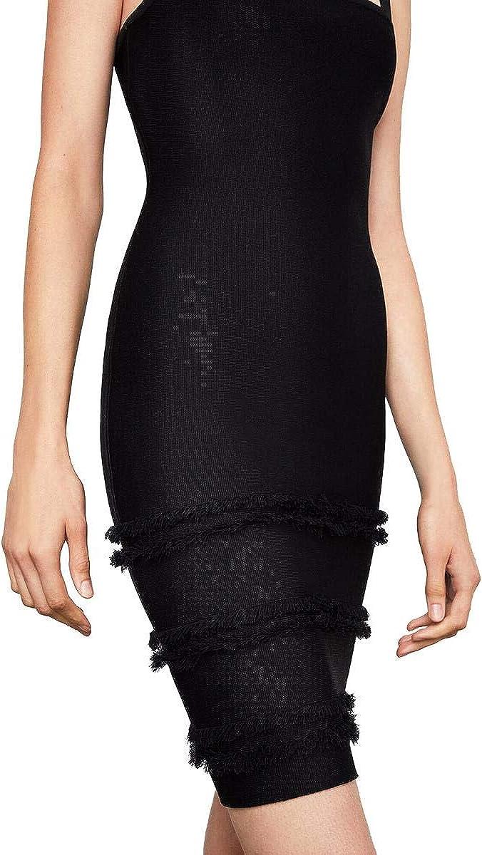 BCBGMAXAZRIA Women's Fringe-Trimmed Sheath Dress