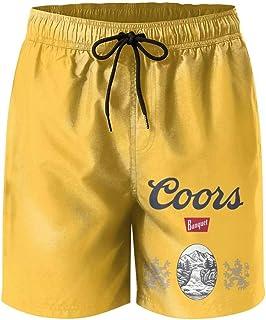 jdadaw Men's Beach Shorts Coors-Banquet-Logo- Summer Quick Dry Swimming Pants