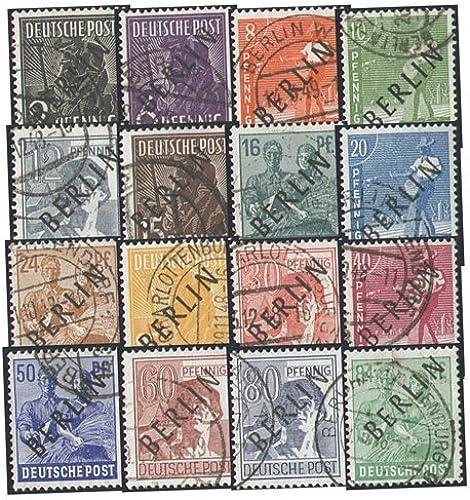 Goldhahn Berlin Nr. 1-16 gestempelt in Bedarfserhaltung Briefmarken für Sammler