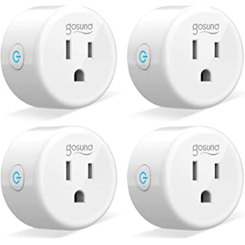 Smart Plug Gosund Smart WiFi Outlet Works with Alexa and Google Home, 2.4G WiFi Only, No Hub Required, ETL and FCC Listed 4 Pack [Upgraded Version]