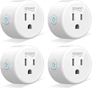 Smart Plug Gosund Smart WiFi Outlet Works with Alexa and Google Home, 2.4G WiFi Only, No Hub Required, ETL and FCC Listed ...