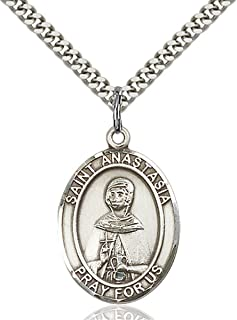 bliss Sterling Silver Catholic Saints Medal Pendant, 1 Inch