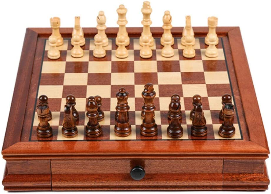 Super sale period limited Chess Solid Wood Set with Magnetic Drawer Popular product Double Handmade