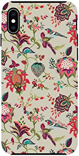 Macmerise IPCIXMTPS1508 Payal Singhal Chidiya Beige - Tough Case for iPhone XS Max - Multicolor (Pack of1)