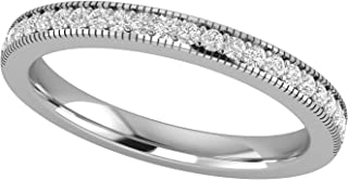 Sponsored Ad - 14K White Gold 1/8 Carat (H-I Color, SI2-I1 Clarity) Natural Diamond Wedding/Anniversary/Stackable Band