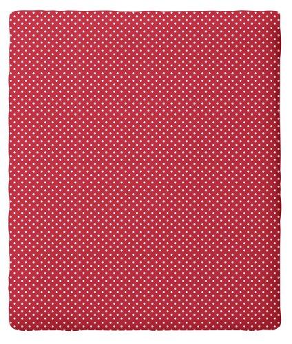 Pip Spannbettlaken - Dots 180 x 200 cm, Baumwolle rot (red)