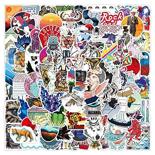 Personalidad Pegatina Tigre Lobo Oso León Dibujos Animados Animal Impermeable papelería Pegatina DIY Equipaje Laptop Scooter 100 Uds