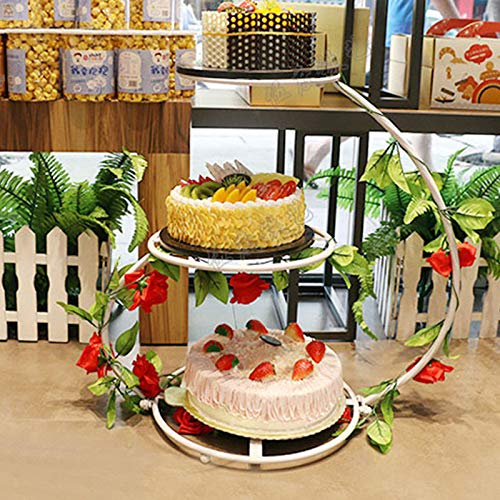 Soporte para tartas de 3 pisos, soporte para tartas, soporte para postres, decoración para cupcakes, para fiestas, bodas, cumpleaños infantiles, expositor de postres