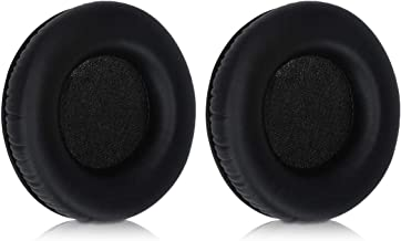 kwmobile 2X Earpads Compatible with AKG K545 / K540 - PU Leather Replacement Ear Pads for Headphones - Black