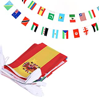 Best Anley 100 Countries String Flag, International Bunting Pennant Banner, Decoration for Grand Opening, Sports Bar, Party Events - 82 Feet 100 Flags Reviews