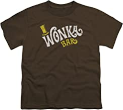 Sons of Gotham Willy Wonka & The Chocolate Factory Wonka Logo Youth T-Shirt (Ages 8-12)