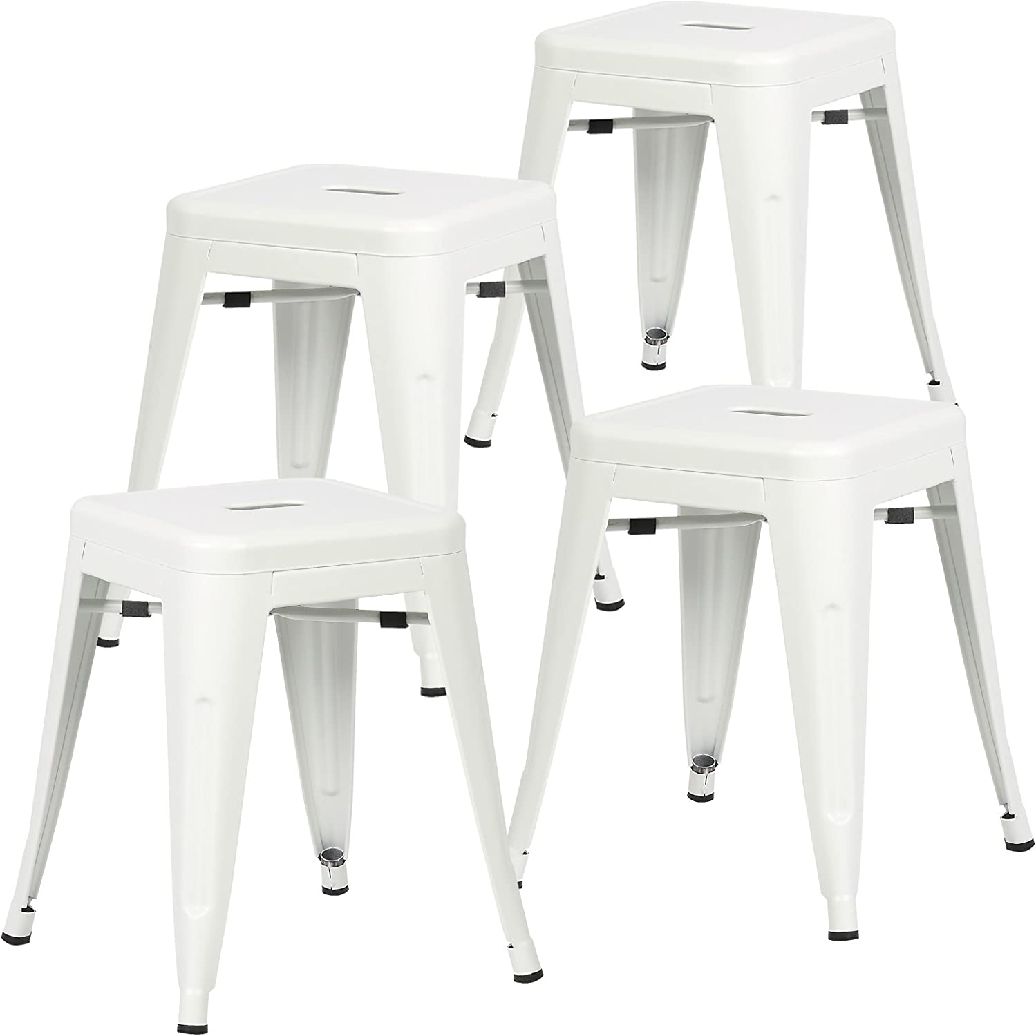 Poly and Bark Trattoria 18  Stool in White (Set of 4)