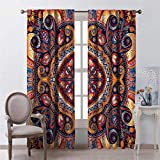 Toopeek Shading Insulated Curtain Flower Rug Soundproof Shade W100 x L84 Inch
