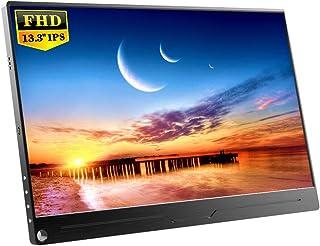 EVICIV 13.3インチ/モバイルモニター/モバイルディスプレイ/薄型/IPSパネル/USB Type-C/標準HDMI/mini DP/スタンド付 EVC-1301