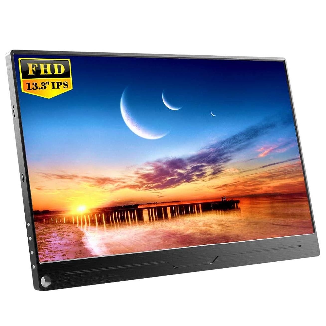 比較的記事見つけたEVICIV 13.3インチ/モバイルモニター/モバイルディスプレイ/薄型/IPSパネル/USB Type-C/標準HDMI/mini DP/スタンド付 EVC-1301