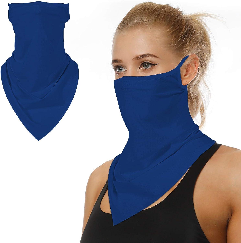 FaroDor Face Bandana Neck Gaiter with Loops Same day shipping UV Reusable Sun Ear Mesa Mall