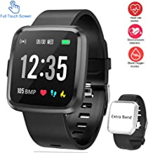 """feifuns Smart Watch,Fitness Tracker with Blood Pressure/Oxygen/Heart Rate Monitor,IP67 Waterproof 1.3"""" Touch Screen Smartwatch with Sleep Monitor, Step Counter for Men Women"""