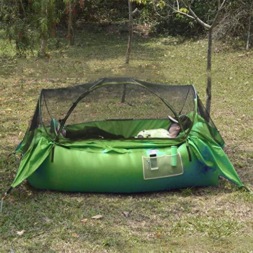 KEKE Carpa Sofa Hinchable, Air Sofa con Mosquitera para Piscina Acampada Playa Senderismo Parque Patio Jardín, Fácil Inflado,Verde