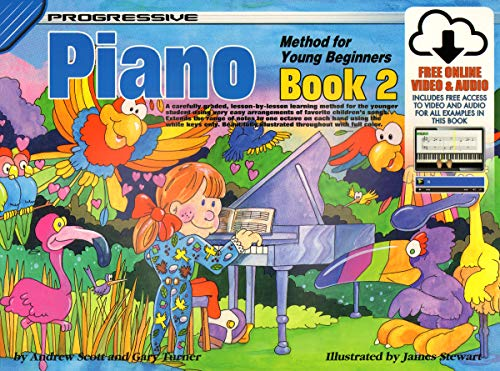 18327 - Progressive Piano Method for Young Beginners Book 2 - Book/Online Video & Audio (Progressive Young Beginners)