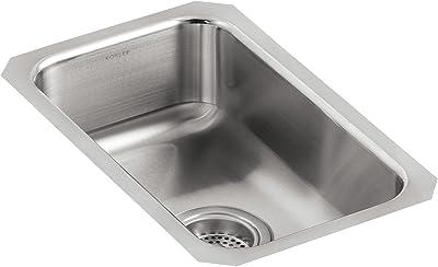 KOHLER K-3333-NA Undertone Small Squared Undercounter Kitchen Sink, Stainless Steel