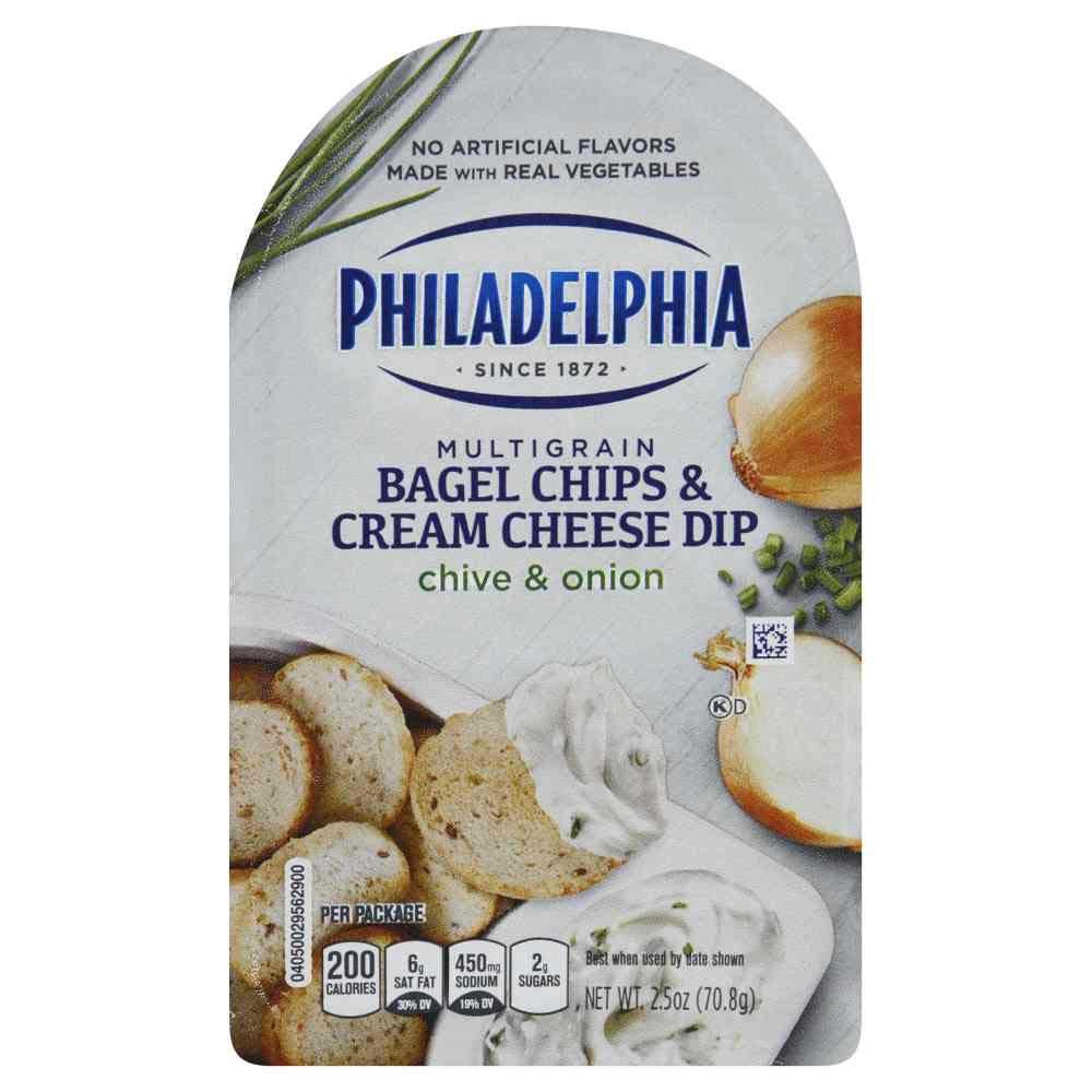 Philadelphia Chive OFFicial shop Onion Bagel Chips and O Cream Dip We OFFer at cheap prices 2.5 Cheese