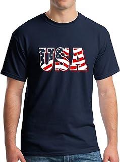 New York Fashion Police USA American Flag T-Shirt - Patriotic Shirts for Men