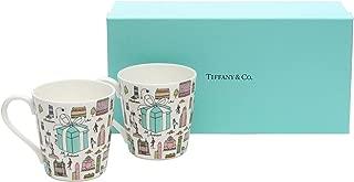 ティファニー TIFFANY&Co マグカップ ペアカップ 5TH アベニュー ボーンチャイナ ニューヨーク 210ml 2客 ペア 陶器 メンズ レディース