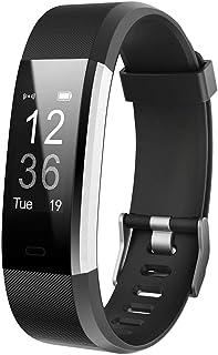 """Letsfit Reloj defitness"""" Monitor de frecuencia cardíaca, índice de impermeabilidad IP67, Contador de calorías, podómetro, Correa de Repuesto, Compatible con iOS y Android"""