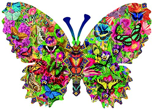Butterfly Menagerie 1000 pc Shaped Jigsaw Puzzle by SunsOut