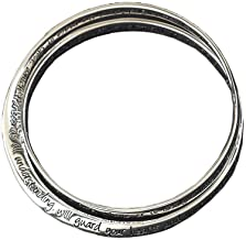 Dicksons Inspirational Women`s Silver Plated Double Mobius Fashion Bracelet