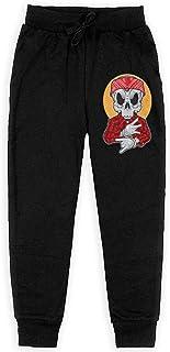 Yuanmeiju Gangsta Skull Boys Pantalones Deportivos,Pantalones Deportivos for Teens Boys Girls