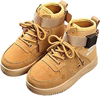 Hopscotch Boys Canvas High Top Sneakers in Khaki Color