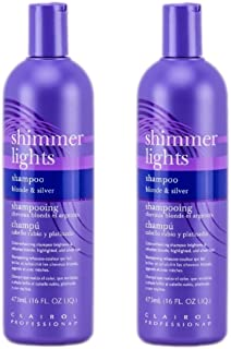 Clairol Shimmer Lights Shampoo 2 bottles of 16 Ounce