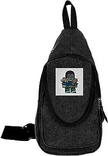 Mitesized Judge Death Dredd Traveling Chest Bags For Men&Women Multipurpose Casual Daypack Hiking Shoulder Bag