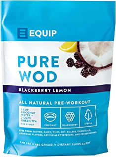 Pre Workout for Men or Women: Best as Preworkout Supplement Powder. BCAA Amino Acids, Green Tea for Explosive Energy Work Out w Creatine, Caffeine, Coconut Water to Burn Fat. BlackBerry Lemon