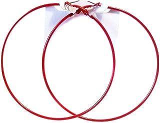 Red Hoop Earrings Thin Hoop Earrings Red Hoops 3 Inch