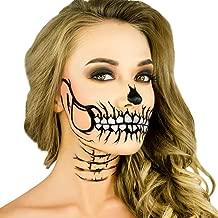 Woochie Stencil Kit - Professional Quality Halloween Costume Makeup - Glitter Skull